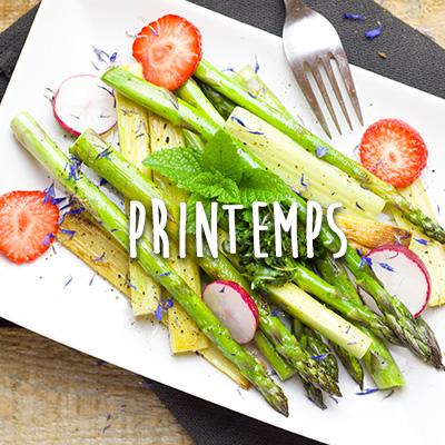 recettes de printemps avec les fruits et legumes du domaine